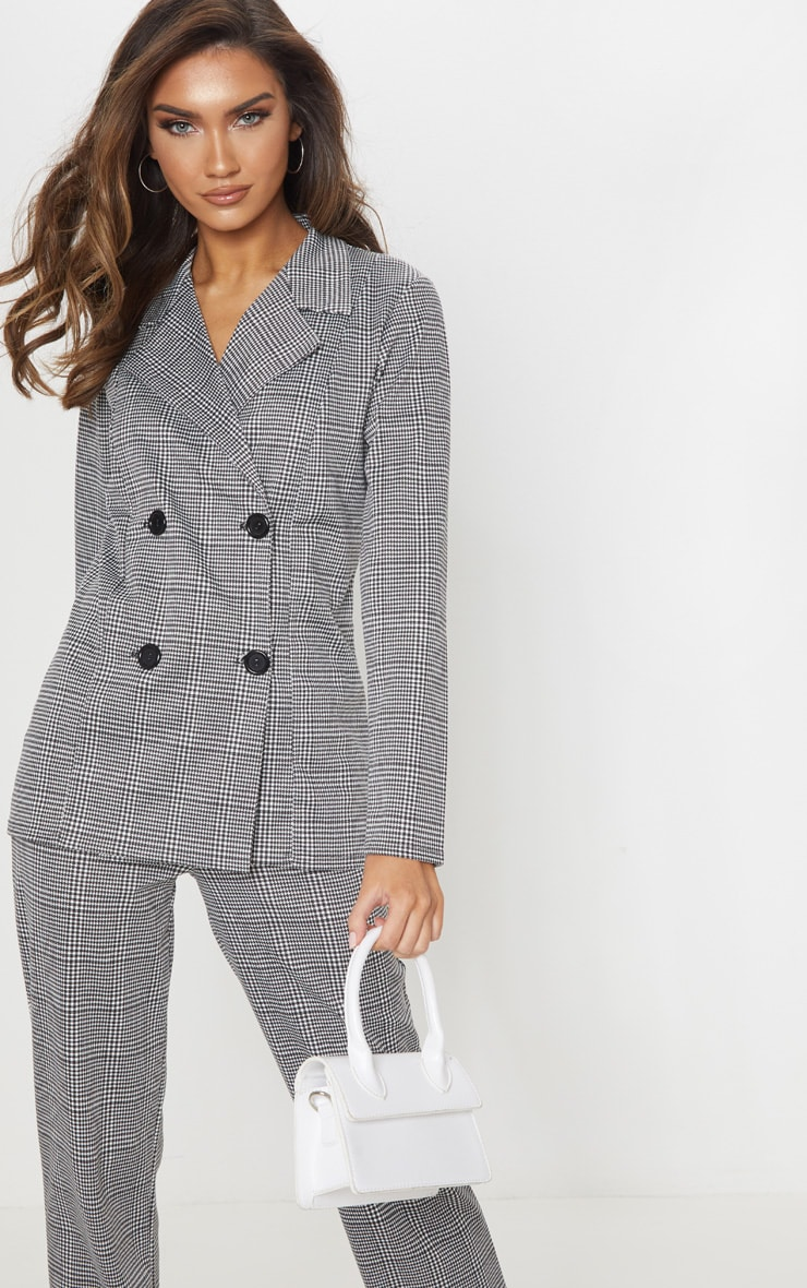 Black Checked Blazer 1