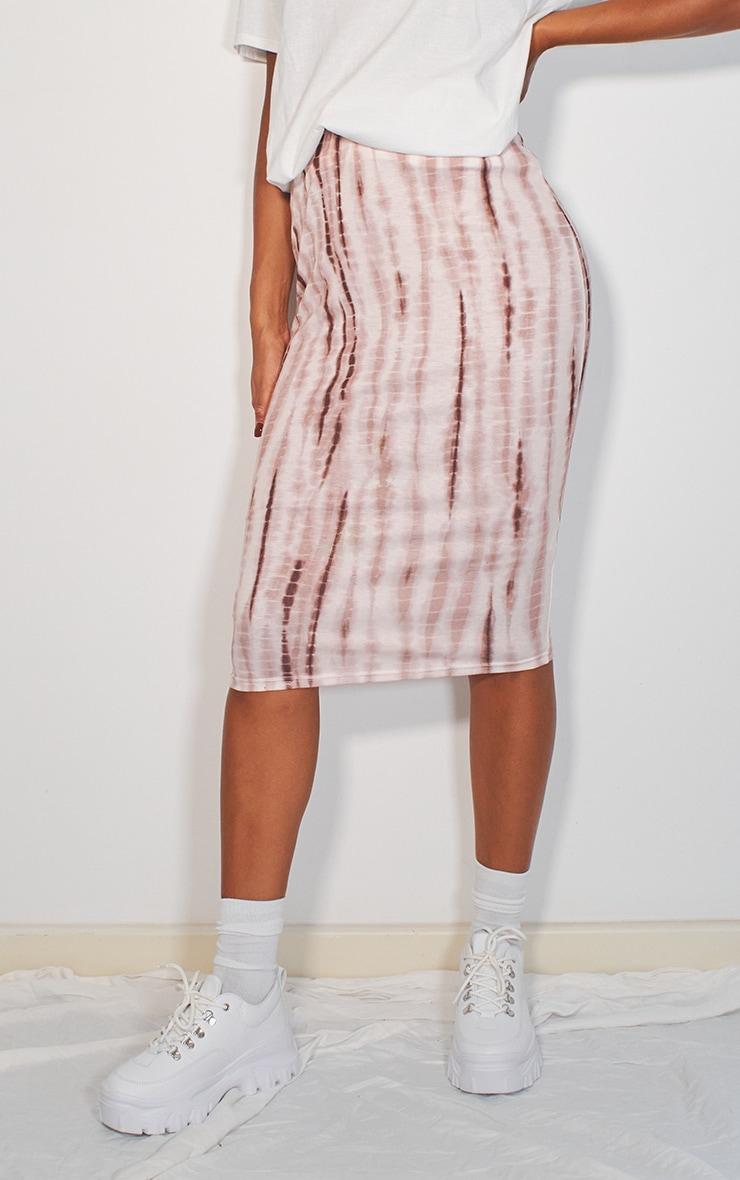 Stone Tie Dye Printed Midi Skirt 2