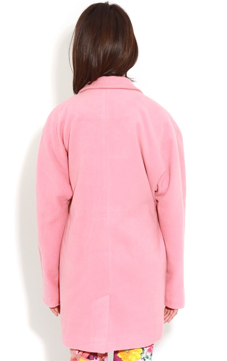 Hope Coral Oversized Boyfriend Blazer Coat  2