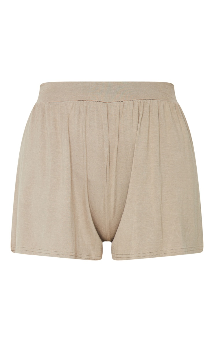Lucilla Taupe Jersey Floaty Shorts 6