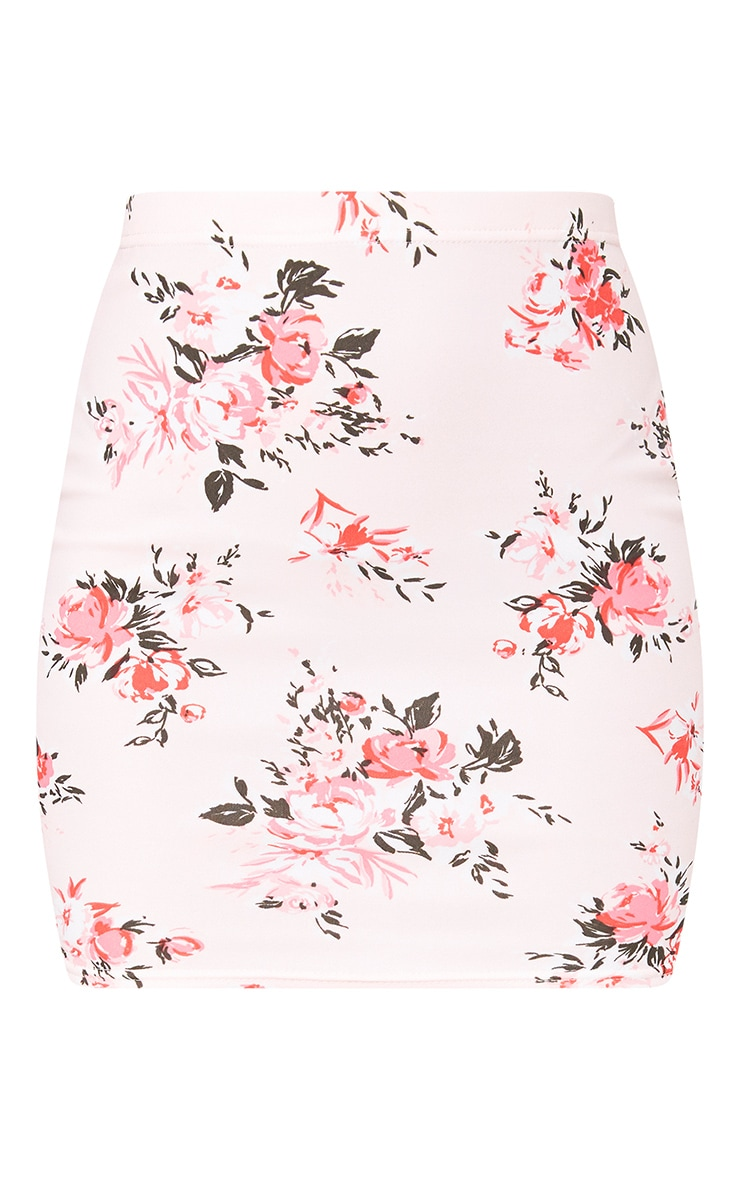 Pink Floral Mini Skirt 3