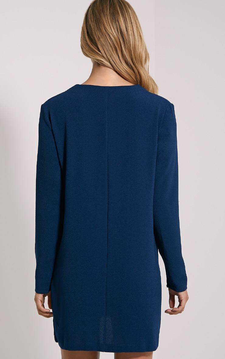 Jemima Navy Loose Fit Blazer Dress 3