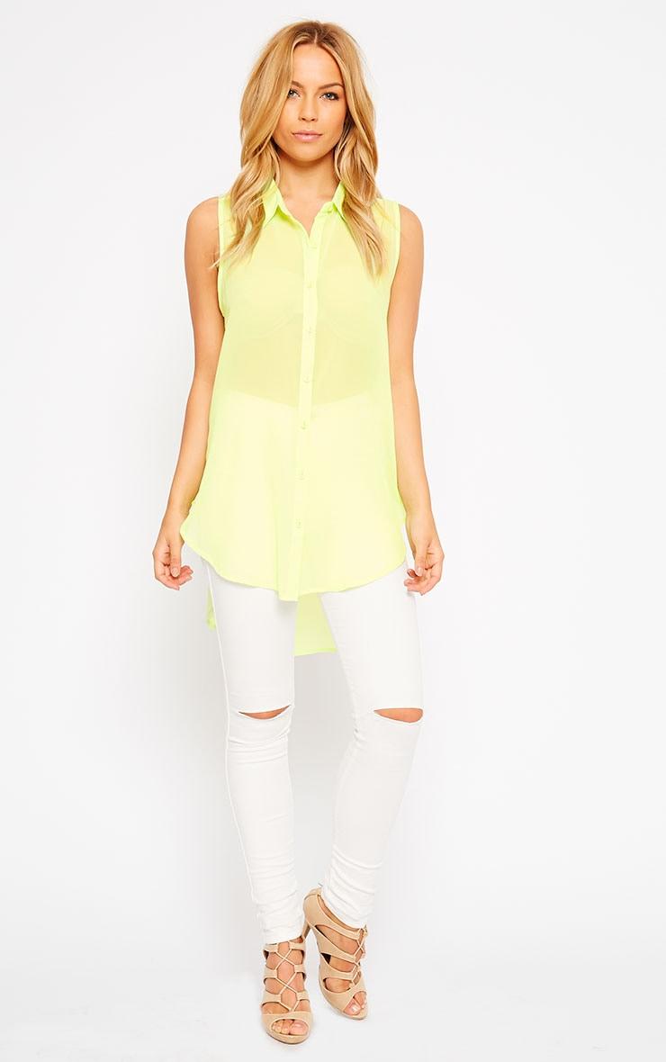 Kaley Lime Sheer Shirt 3