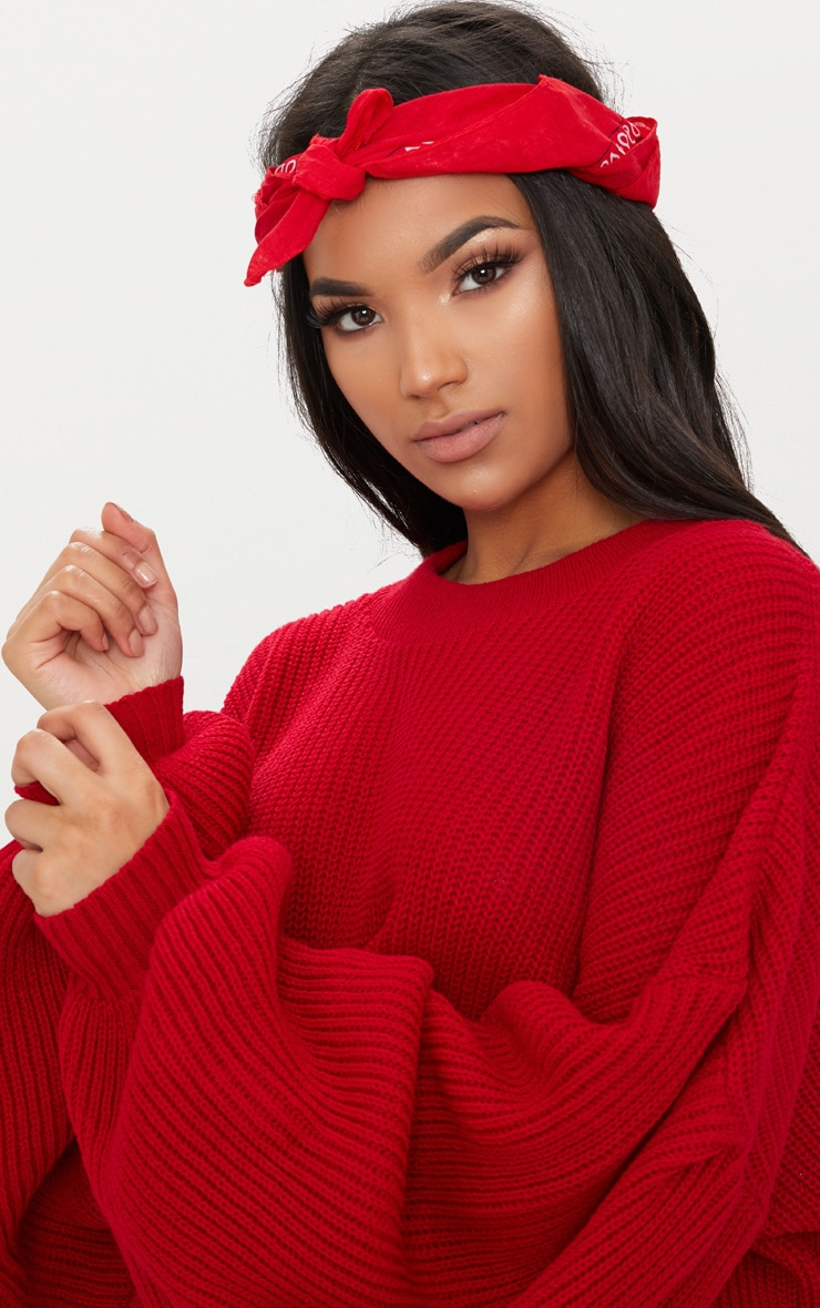 Red Extreme Balloon Sleeve Jumper 5