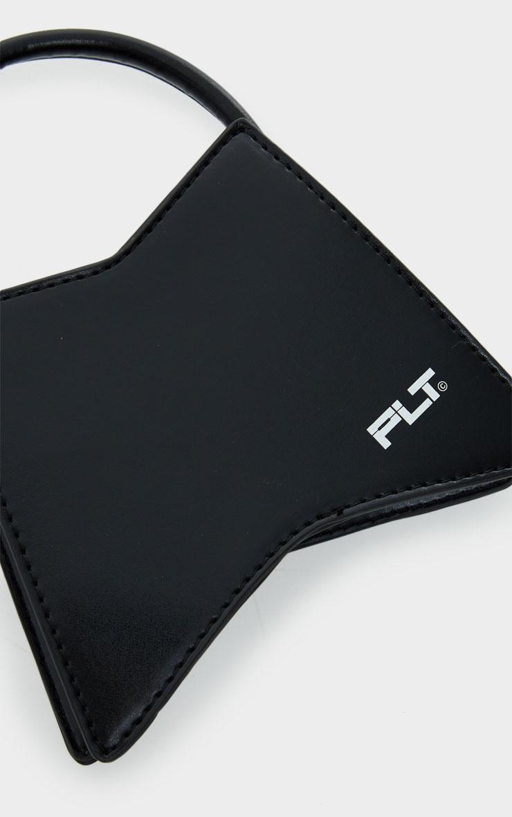 PRETTYLITTLETHING Black Triangular Mini Bag 4