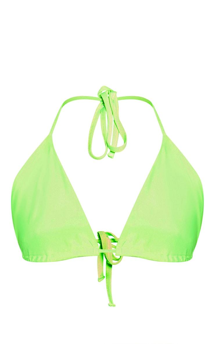 Plus Neon Green Triangle Bikini Top 3