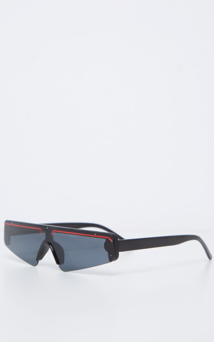 Black Frame Slimline Ski Sunglasses 3