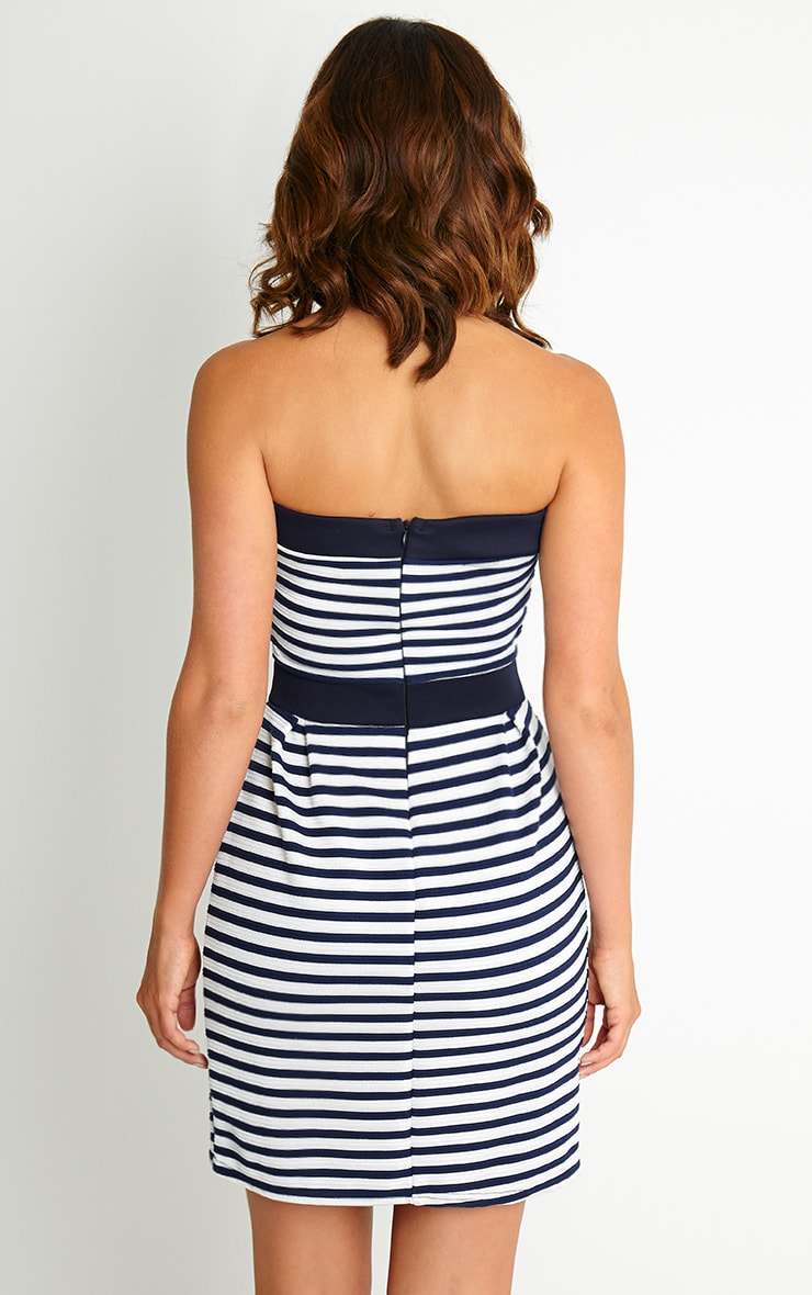 Serena Stripe Bandeau Mini Dress 2