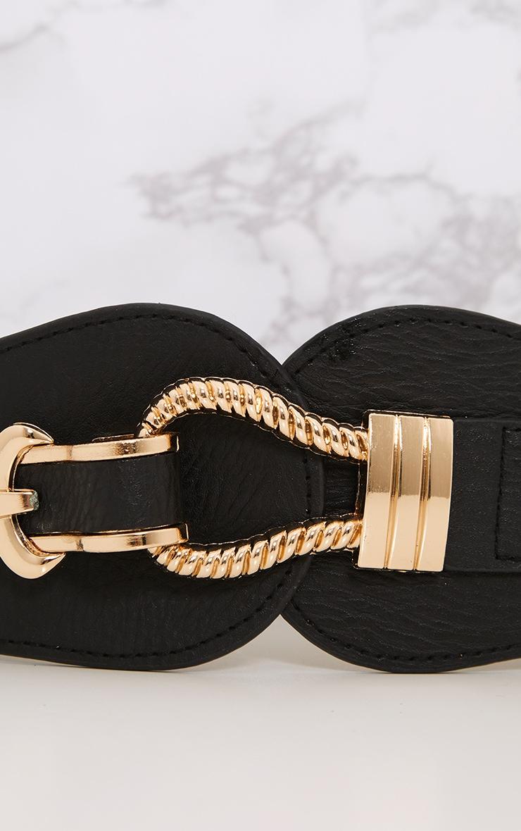 Naiho Black Hook & Buckle Waist Belt 6