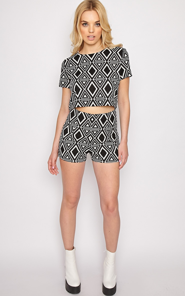 Avery Monochrome Aztec Print Shorts  5