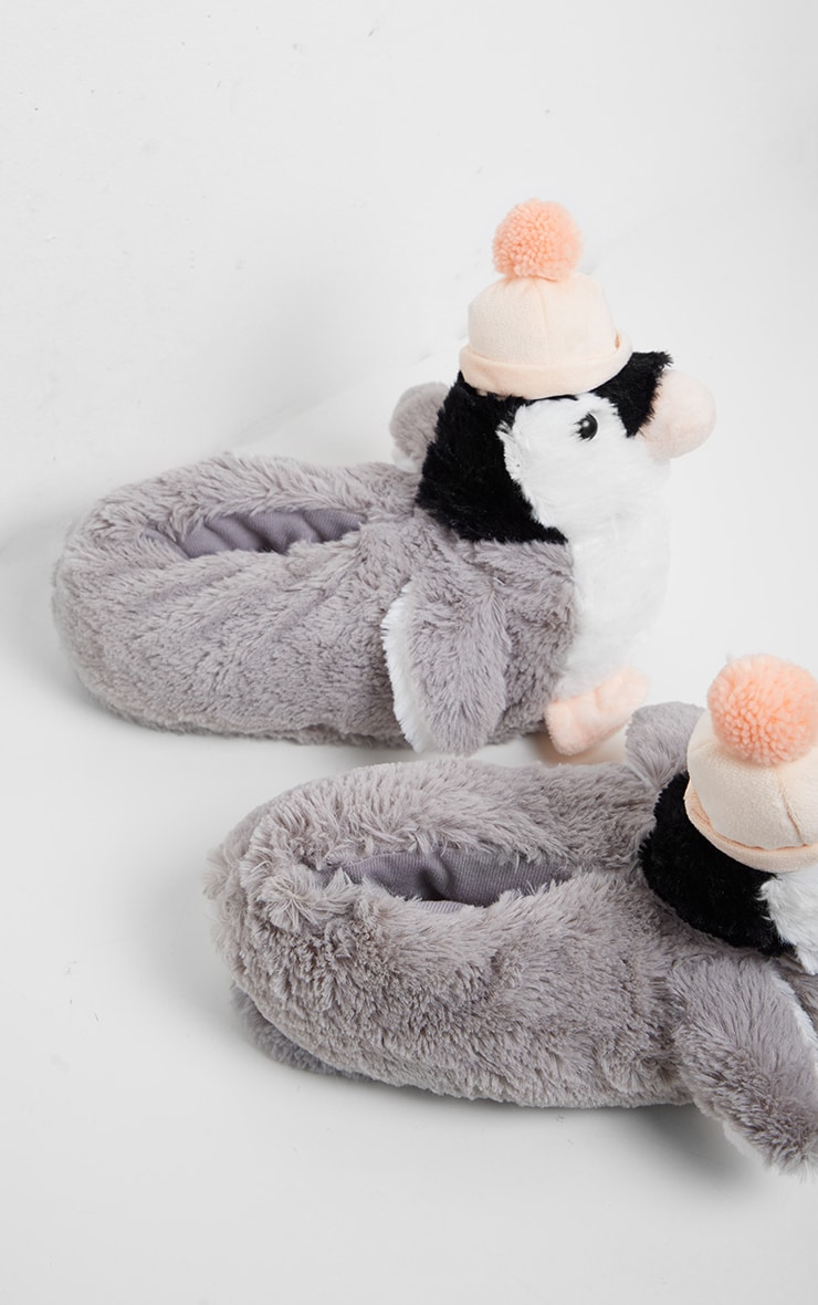White Penguin 3D Slippers 3