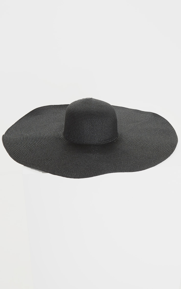 Black Extra Large Oversized Sun Hat 3