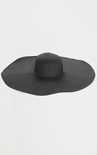 Black Extra Large Oversized Sun Hat