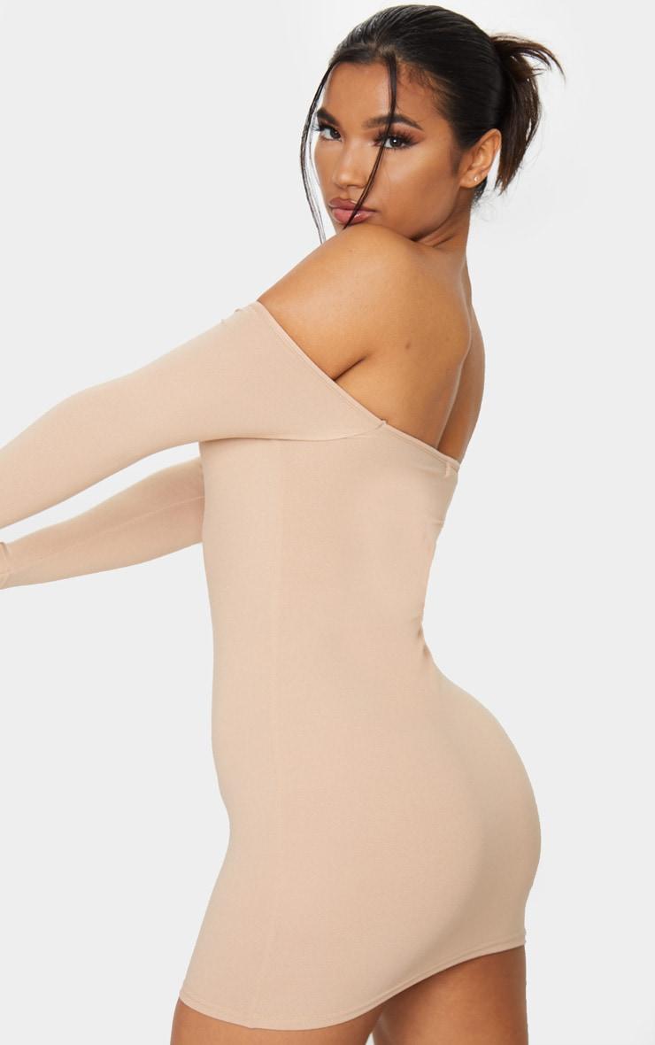Stone Basic Bardot Bodycon Dress 2