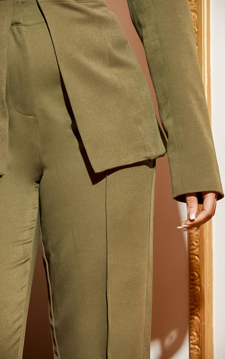 Khaki Wide Leg Pants  6