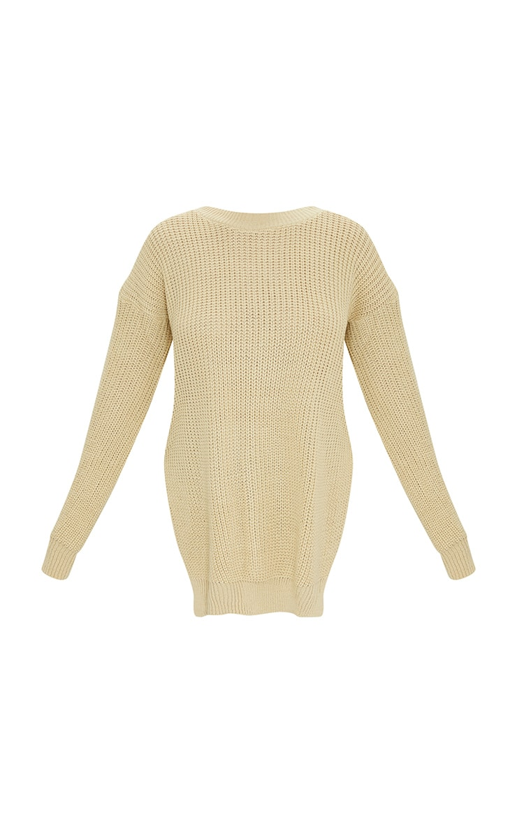 Stone Round Neck Side Split Sweater 5