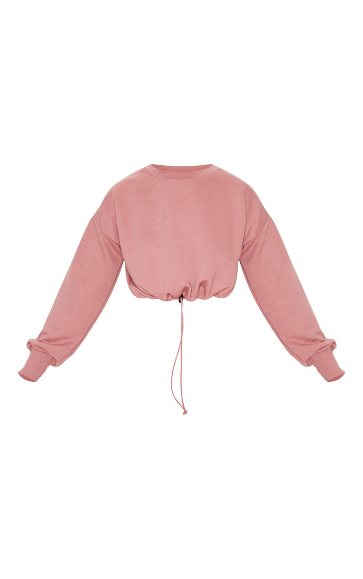 Dusty Pink Basic Gym Sweat Top 5