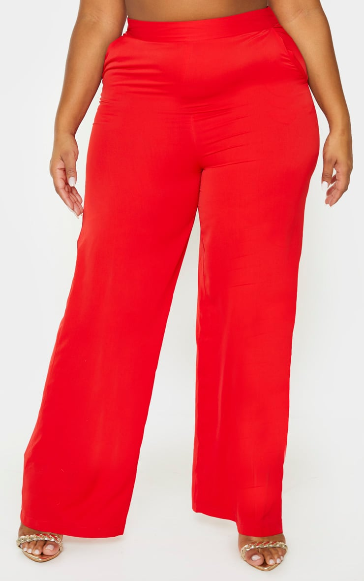 Plus Red Extreme Wide Leg Trouser 2