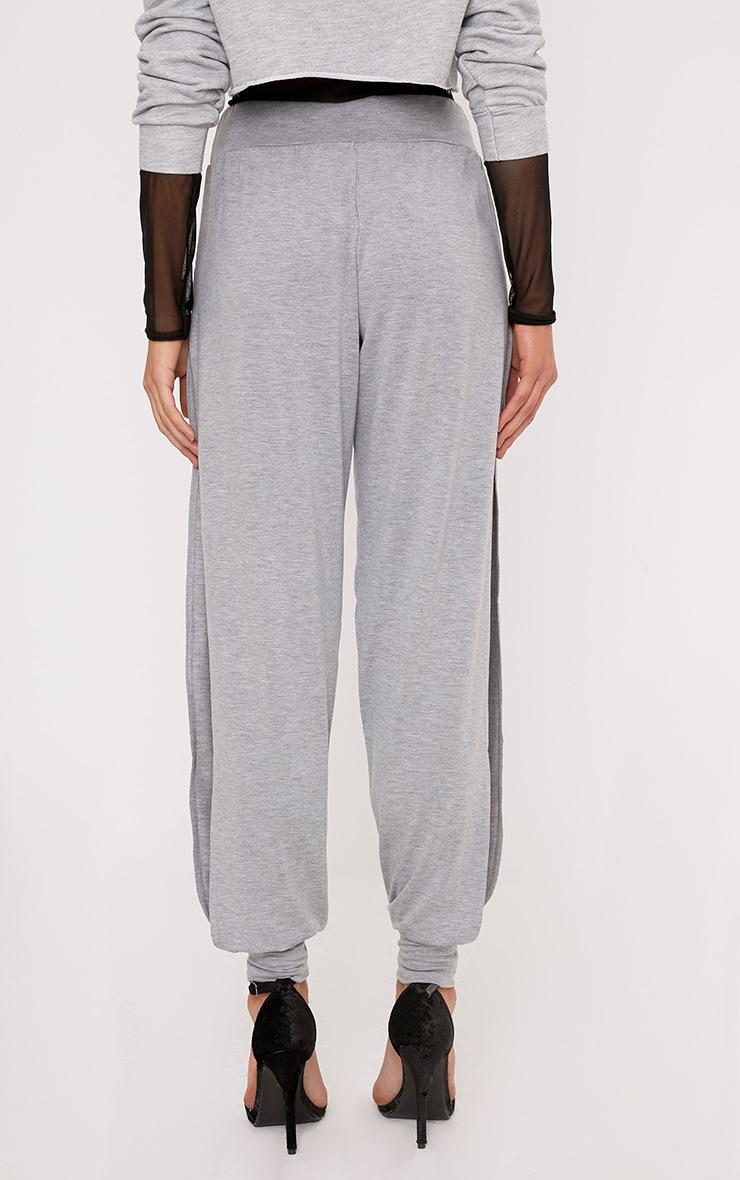 Chasity Grey Split Side Jersey Trousers 4