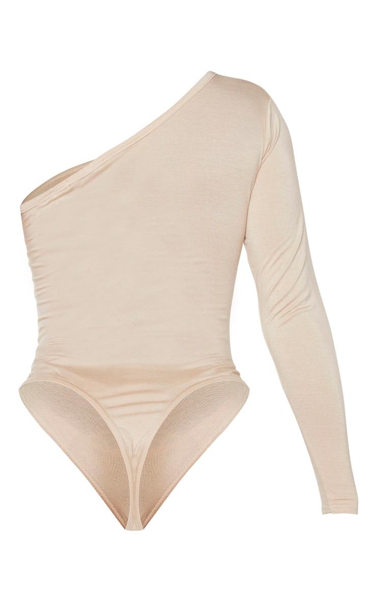 Shape Sand Jersey One Shoulder Bodysuit 5