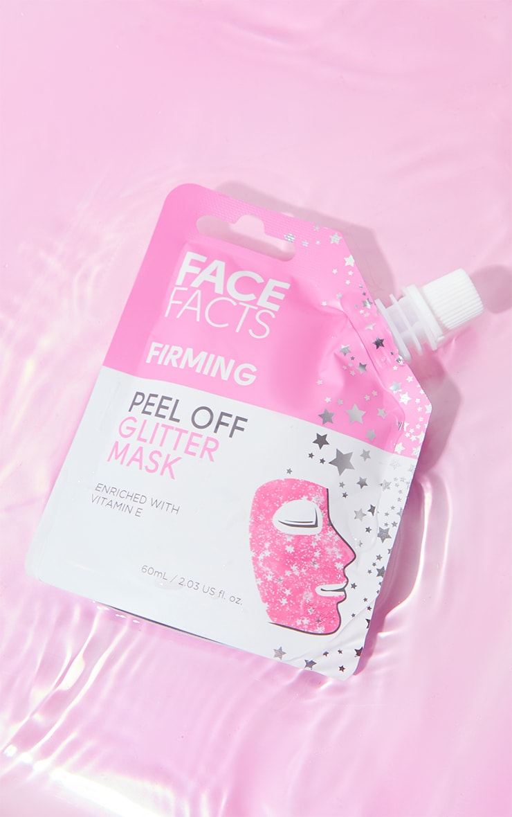 Face Facts Glitter Peel Off Mask Pink image 1