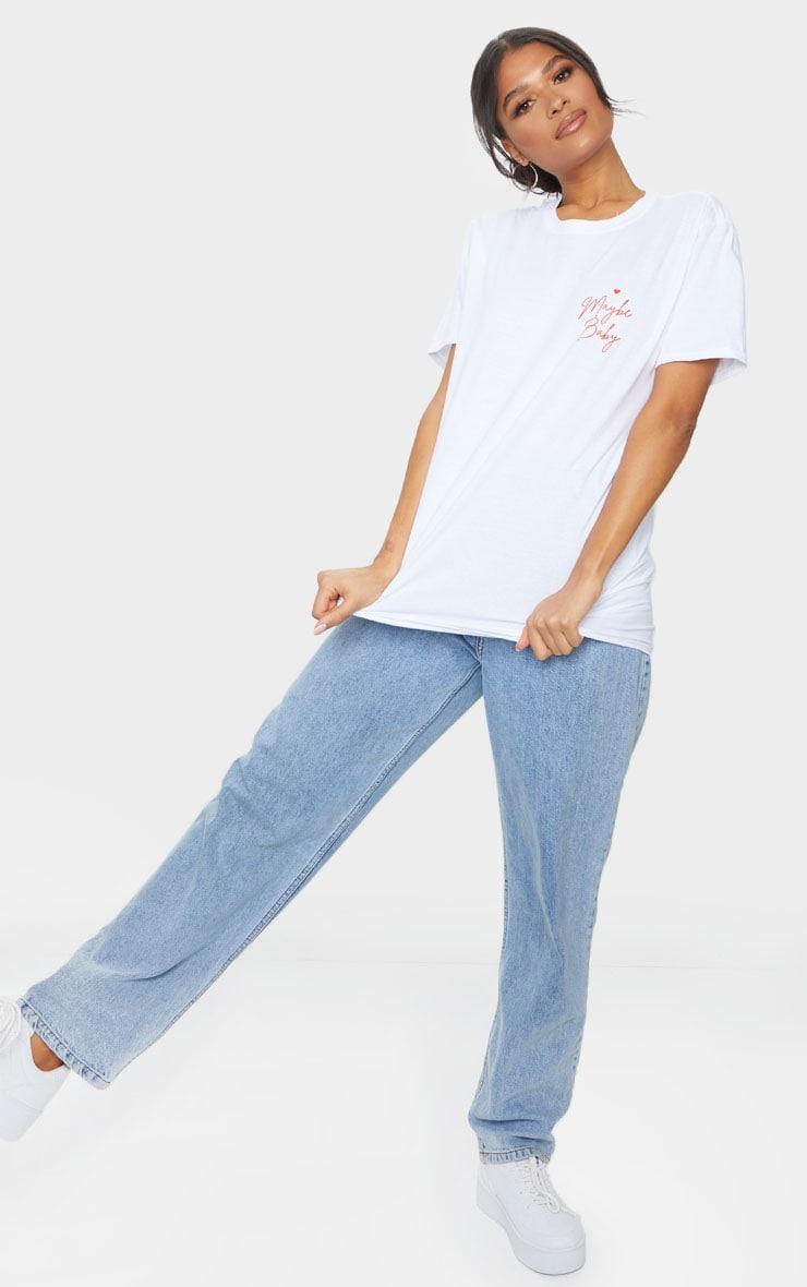 White Maybe Baby Printed T Shirt 3