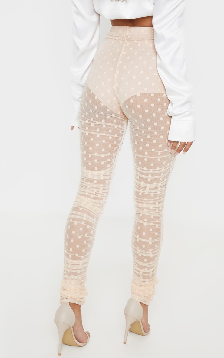 Nude Dobby Mesh Ruched Legging 4