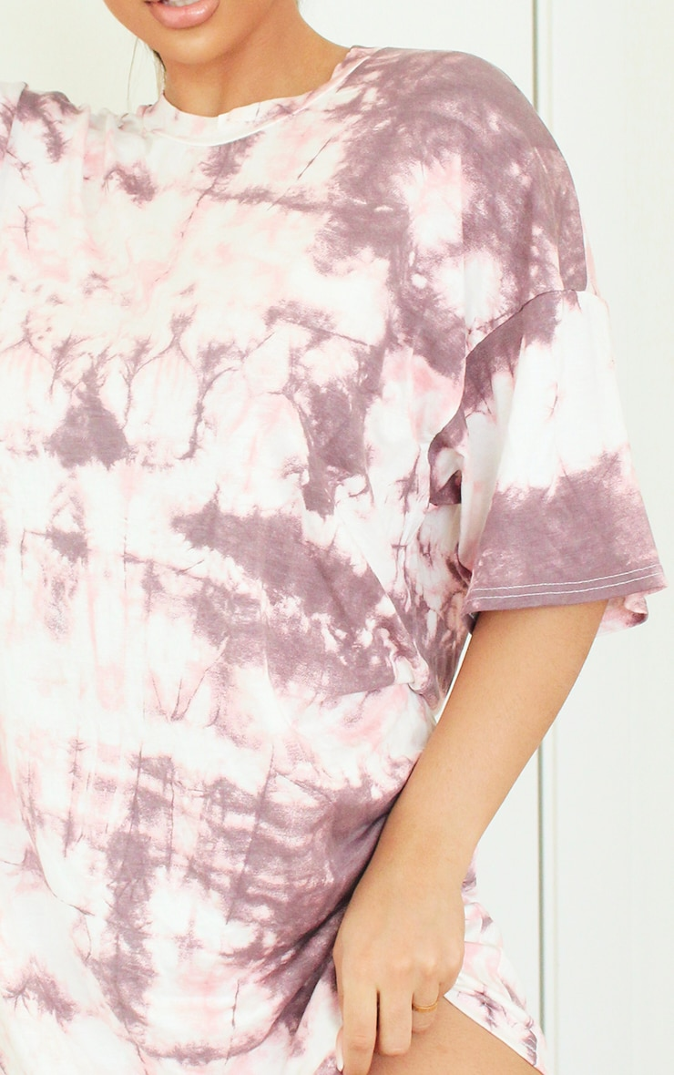 Pink Tie Dye Tee Shirt Dress 3