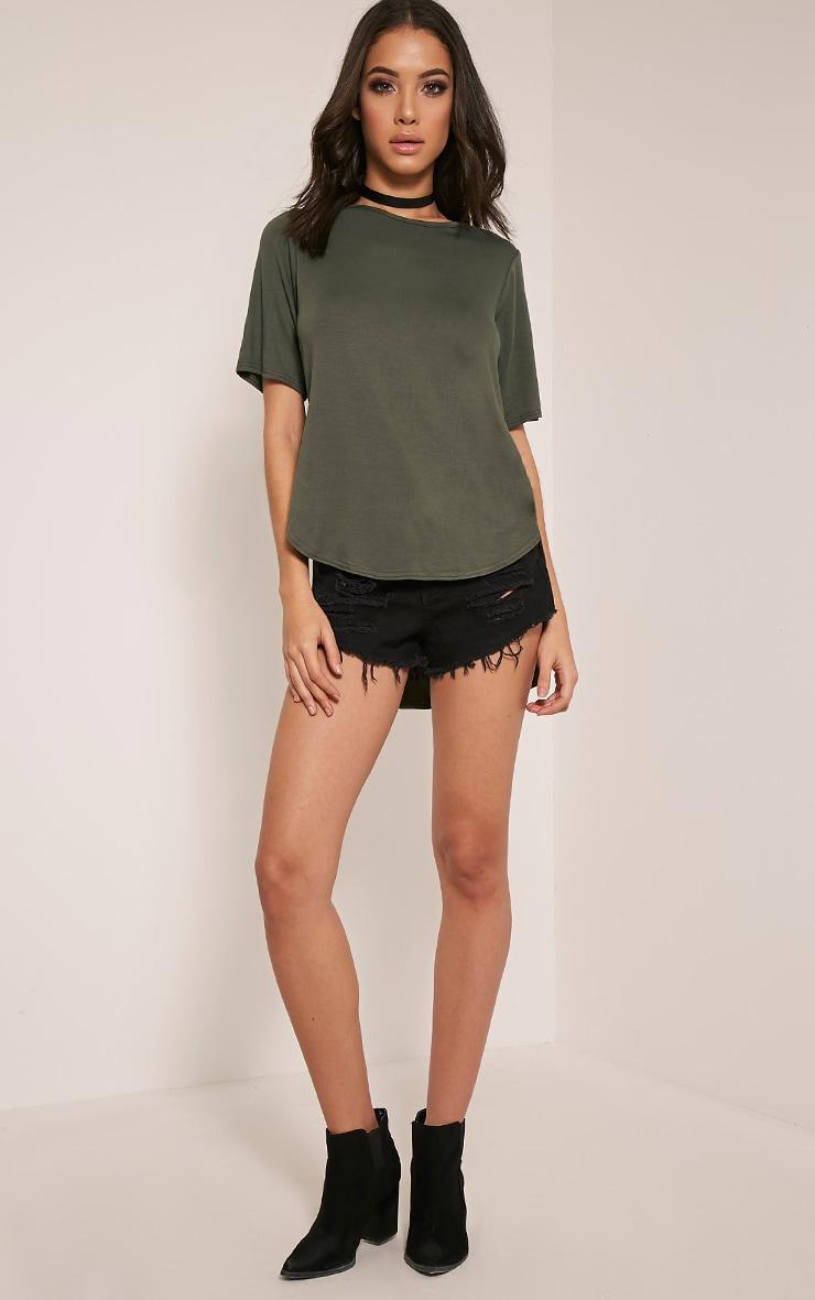 Ashby Khaki Strap Back Jersey T-Shirt 5