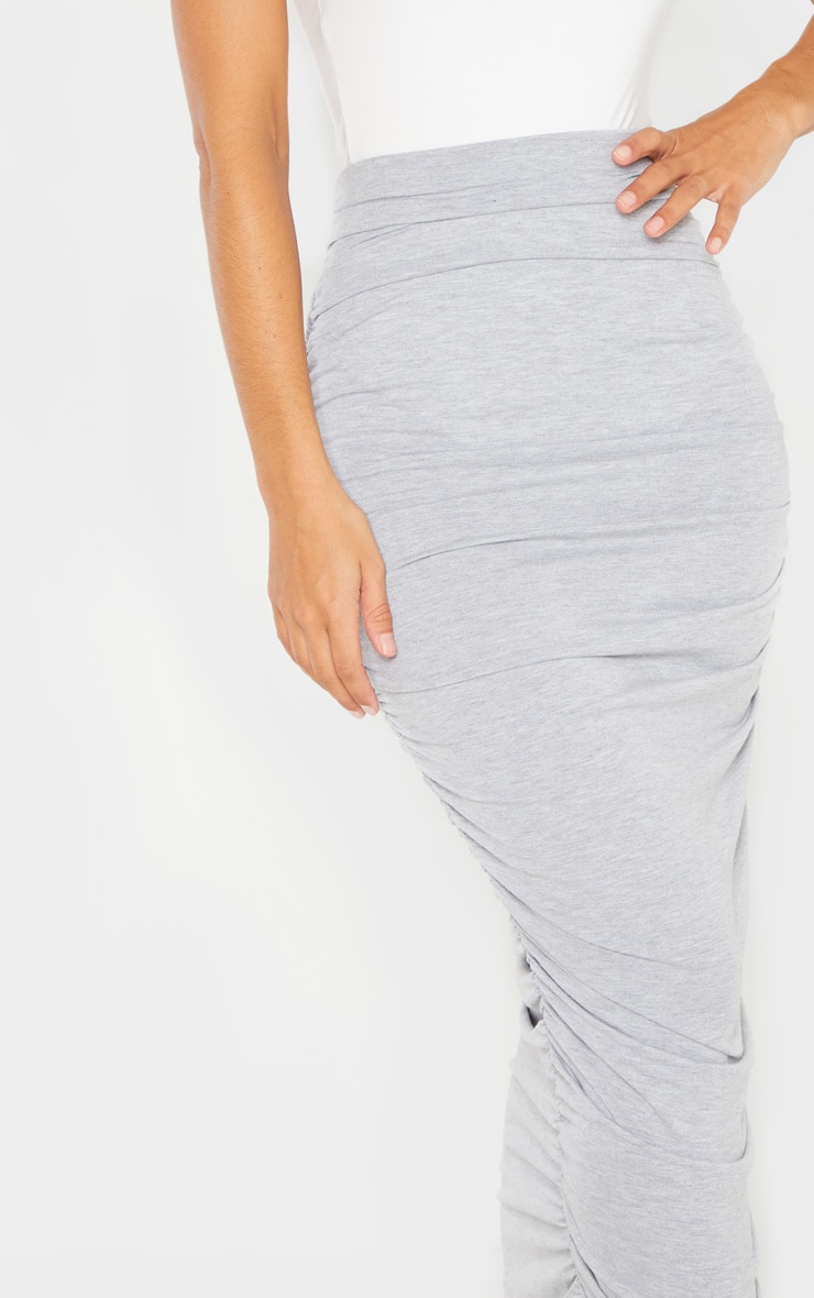 Grey Ruched Midaxi Skirt 5