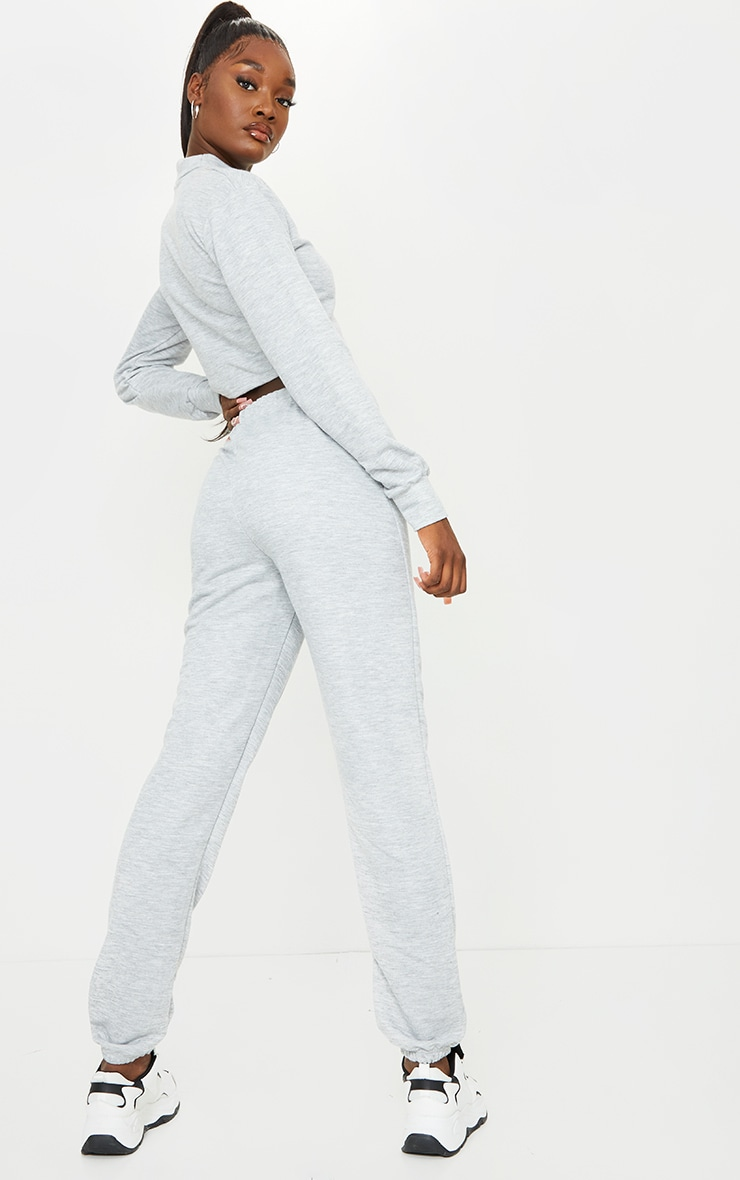 Tall Grey Cropped Sweat and Jogger Set 2