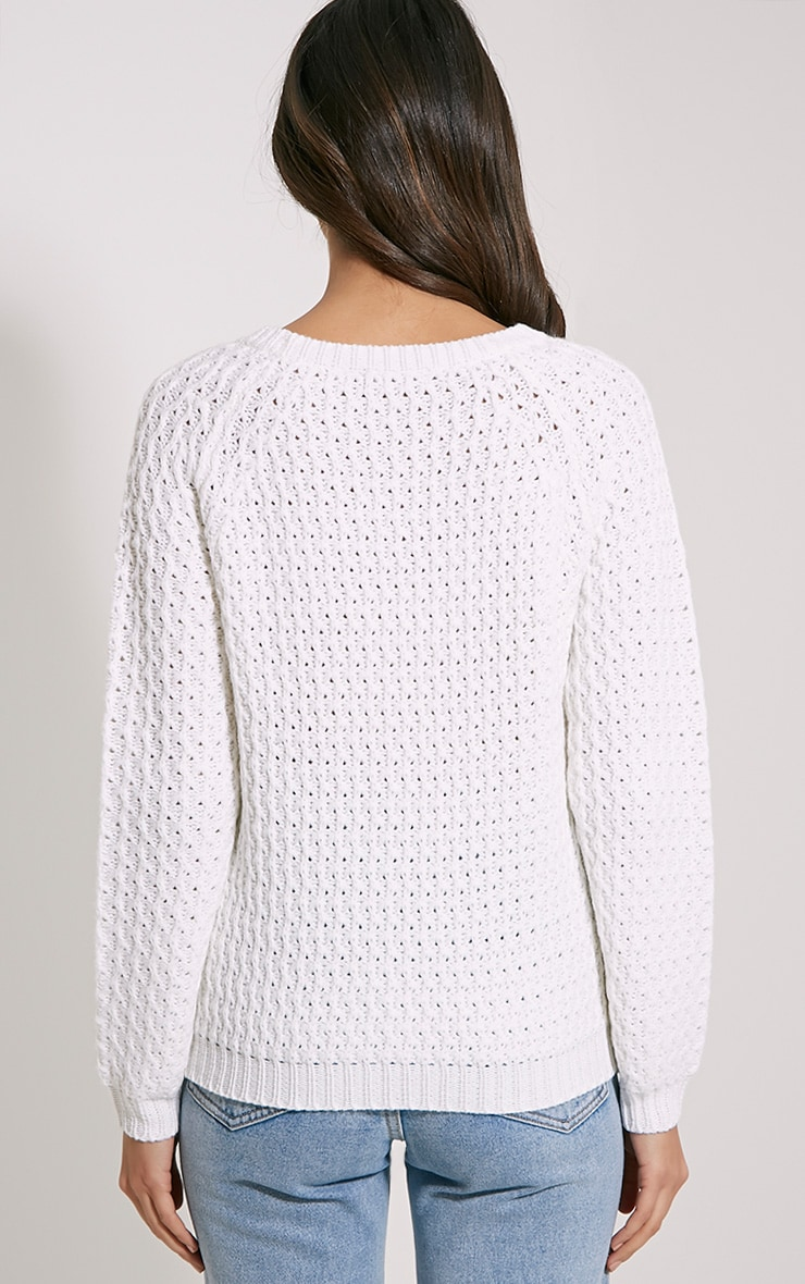 Jaylin Cream Cable Knit Jumper 2
