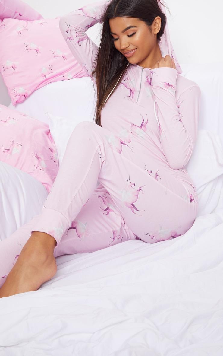 PRETTYLITTLETHING Pink Unicorn Print Onesie 5