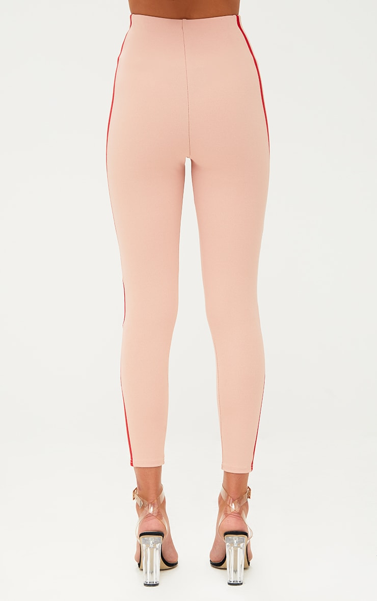 Dusty Pink High Waisted Track Trousers 3