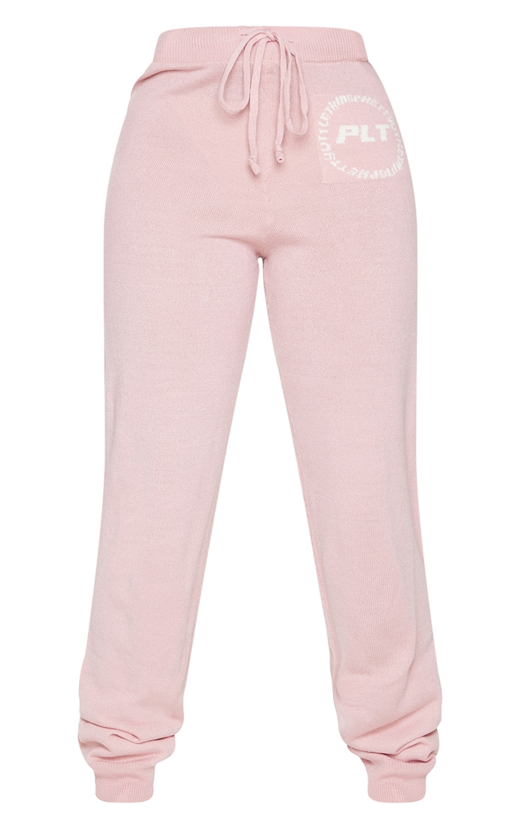 PRETTYLITTLETHING Petite Pink Knitted Joggers 5