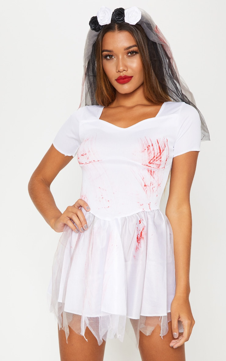 Bloody Bride Costume Fancy Dress Outfit 1