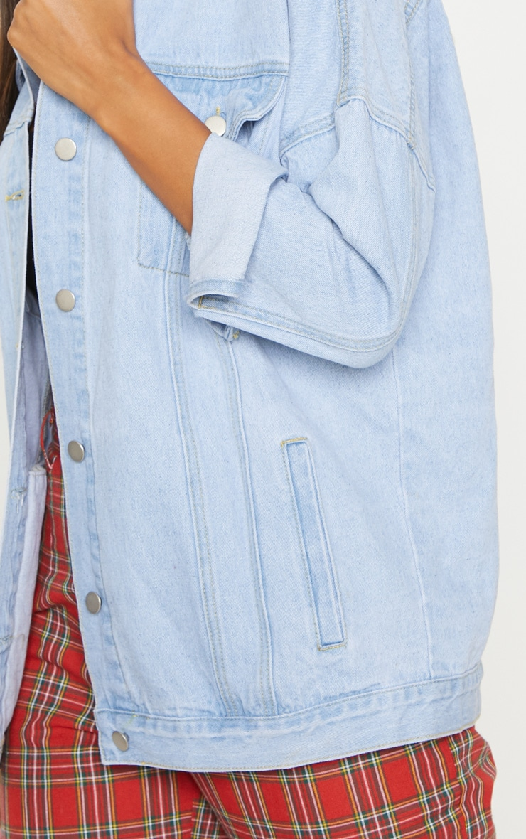 Light Wash Oversized Denim Jacket  5
