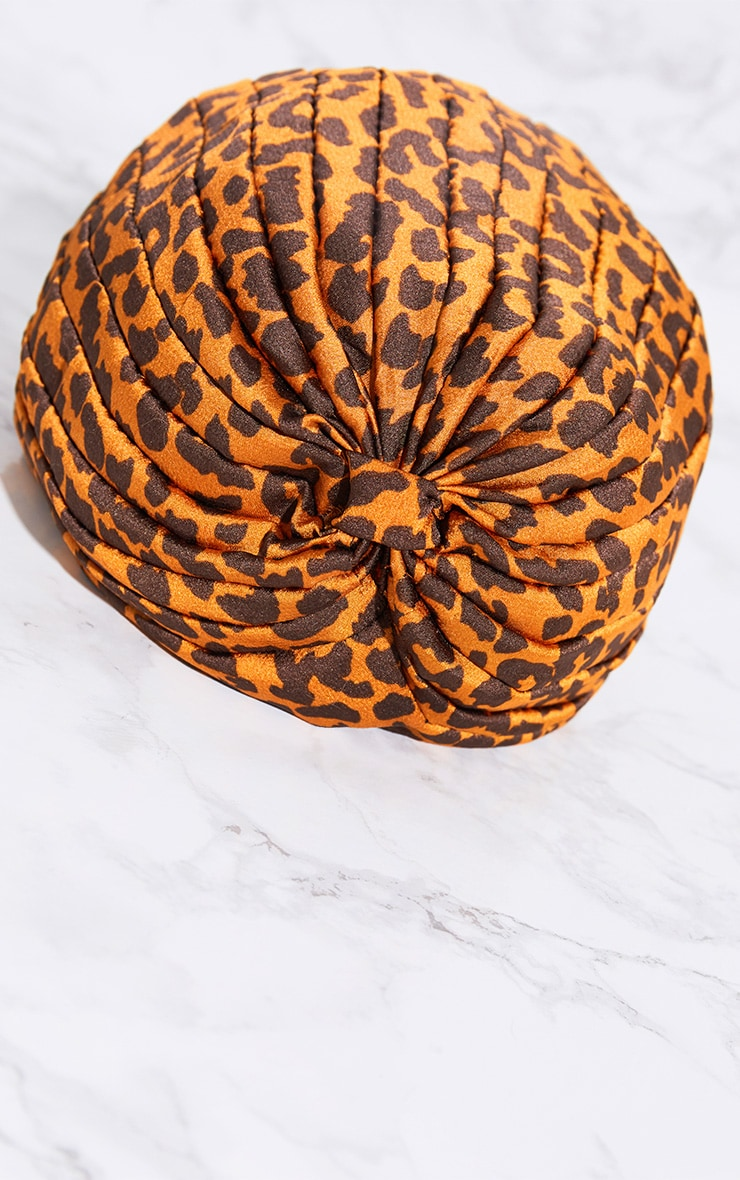 Leopard Print Knotted Hat 5