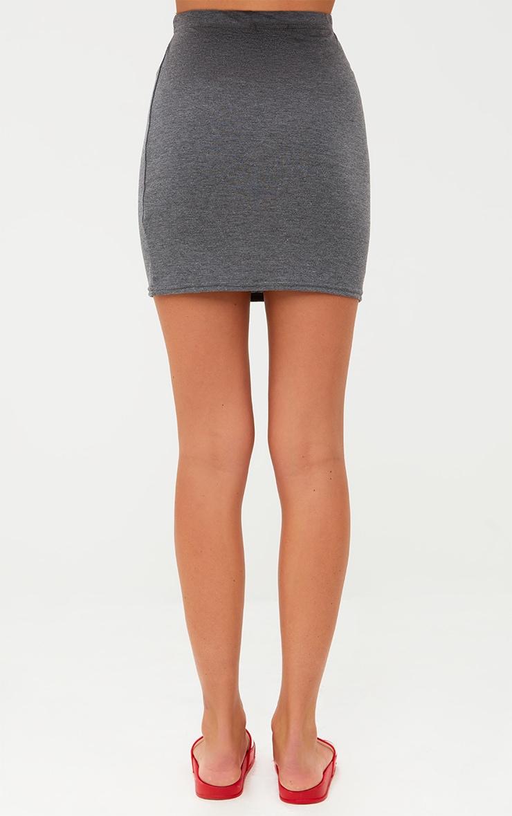 Charcoal Basic Mini Skirt 4