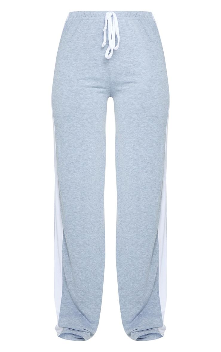 Grey Wide Leg Side Stripe Pants 5