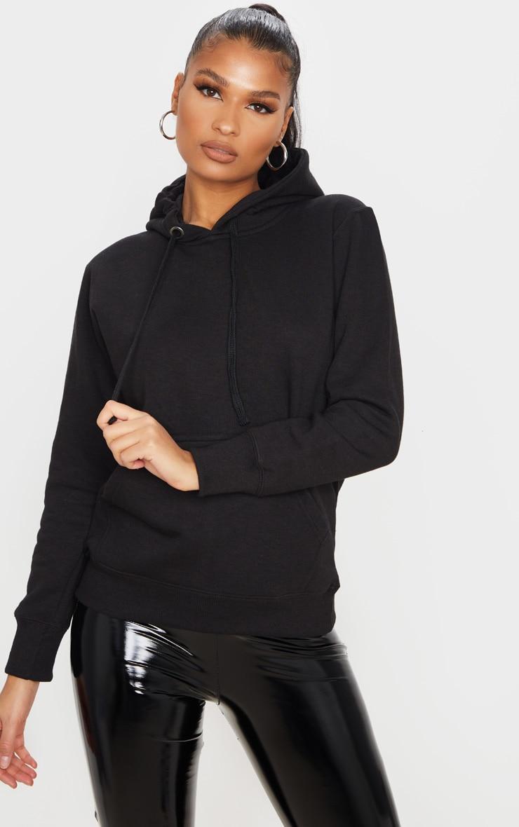 Basic Black  Hoodie 1