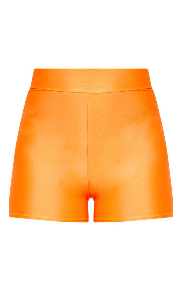 Neon Orange Disco Hot Pants 3