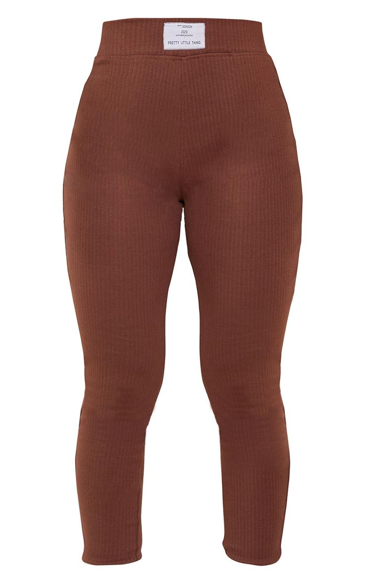 PRETTYLITTLETHING Chocolate Badge Detail Leggings 5