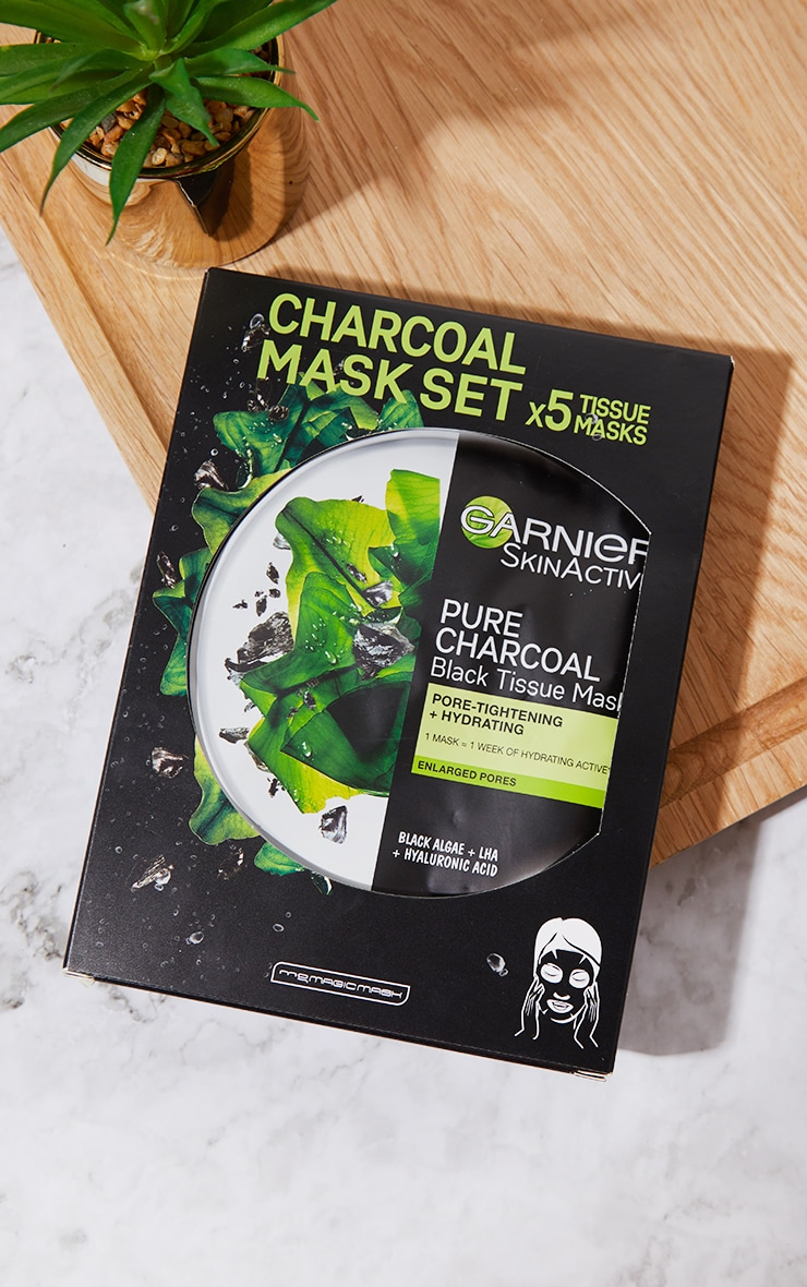 Garnier Charcoal and Algae Purifying and Hydrating Sheet Mask 5 Pack 1