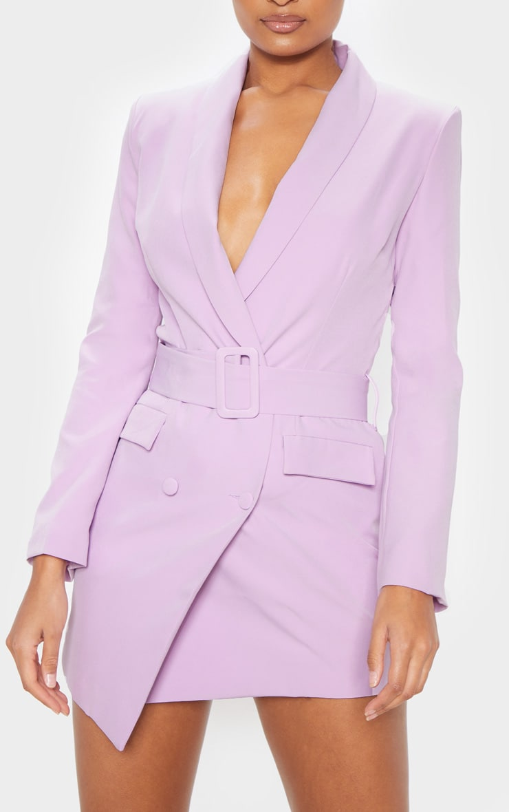 Dusty Lilac Belt Blazer Dress 5