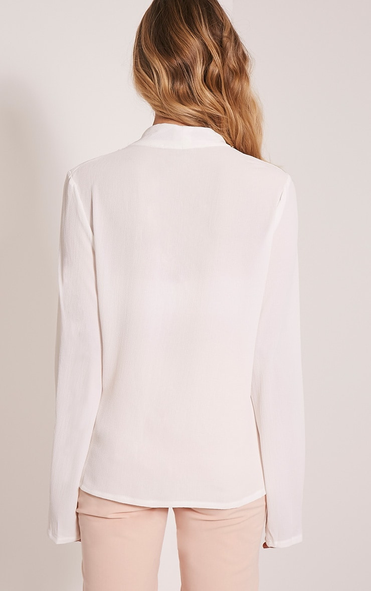 Olivia Cream D Ring Cross Front Blouse 2