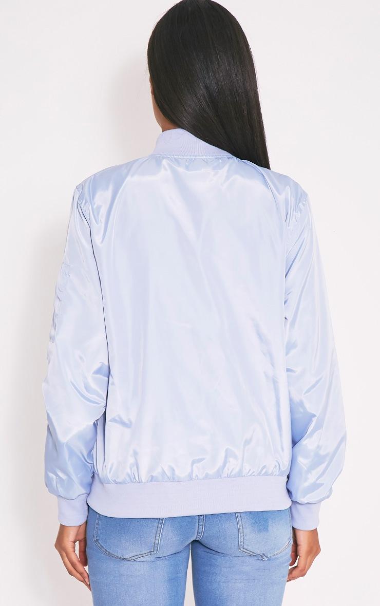 Alisia Baby Blue Bomber Jacket 2