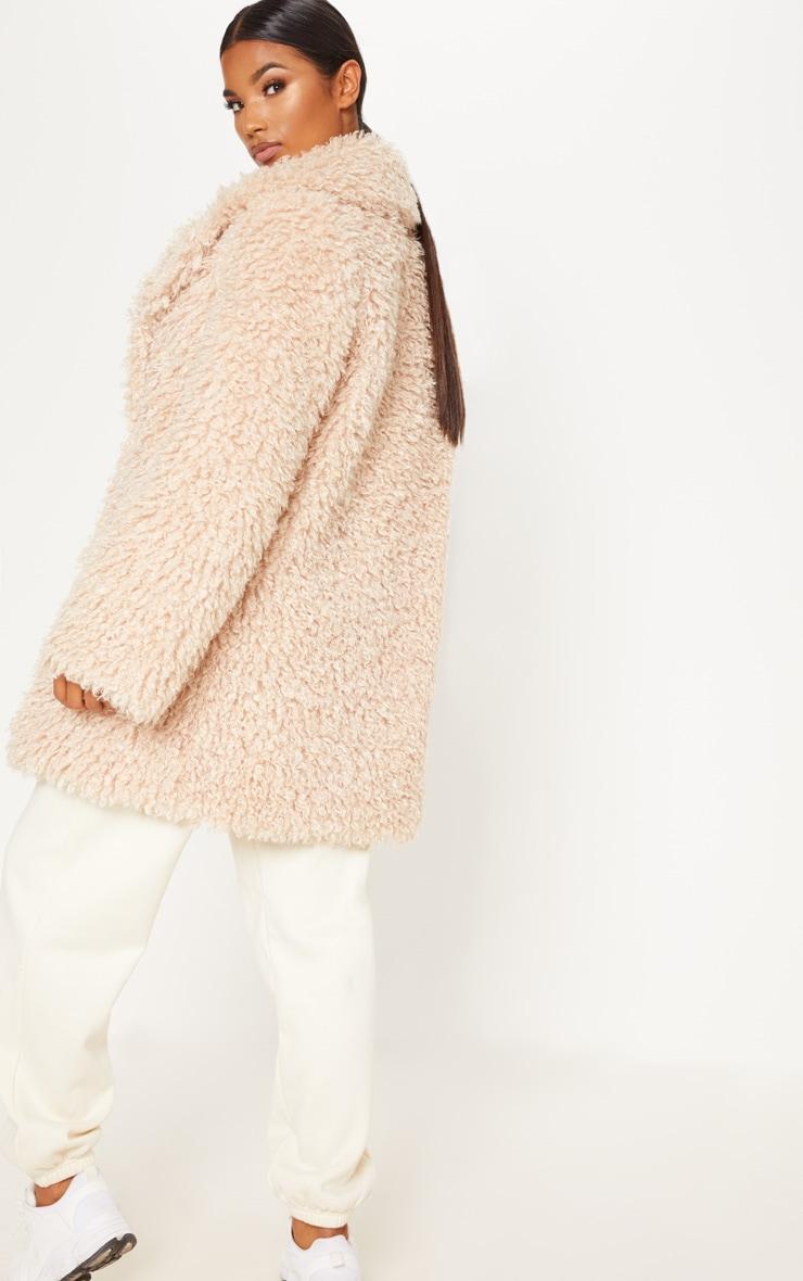 Stone Teddy Faux  Fur Coat   2