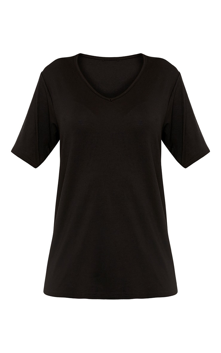 Basic Black & White V Neck T Shirt 2 Pack 4