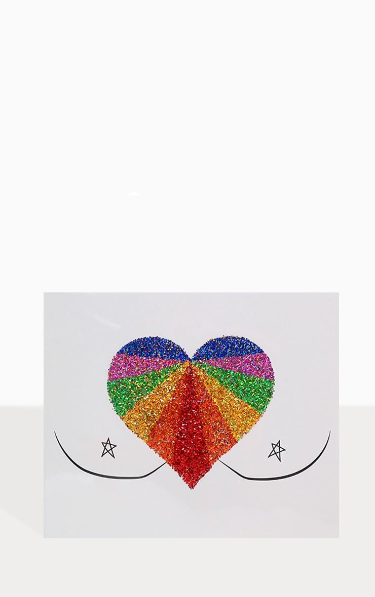 SHRINE Rainbow Glitter Chest Sticker 4